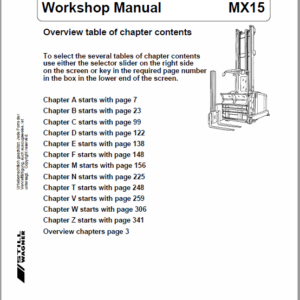 Still MX15 Order Picker Truck Workshop Repair Manual