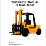 Still Electric Fork Truck R70: R70-60, R70-70, R70-80 Repair Circuit Workshop Operating Manual
