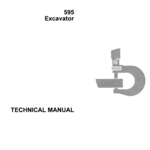 John Deere 595 Excavator Technical Manual TM-1375