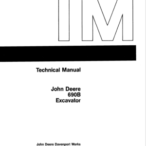 John Deere 690B Excavator Technical Manual TM-1093