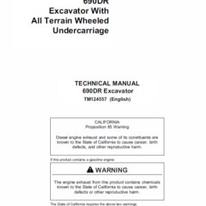 John Deere 690DR Excavator Technical Manual TMT124557