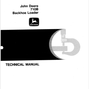 John Deere 710B Backhoe Loader Service Manual TM-1286