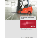 Linde Type 1313 CT Series Forklift Truck: H25CT, H27CT, H30CT, H32CT Repair Service Manual