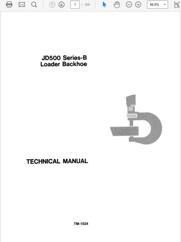 John Deere 500B Loader Backhoe Technical Manual TM-1024