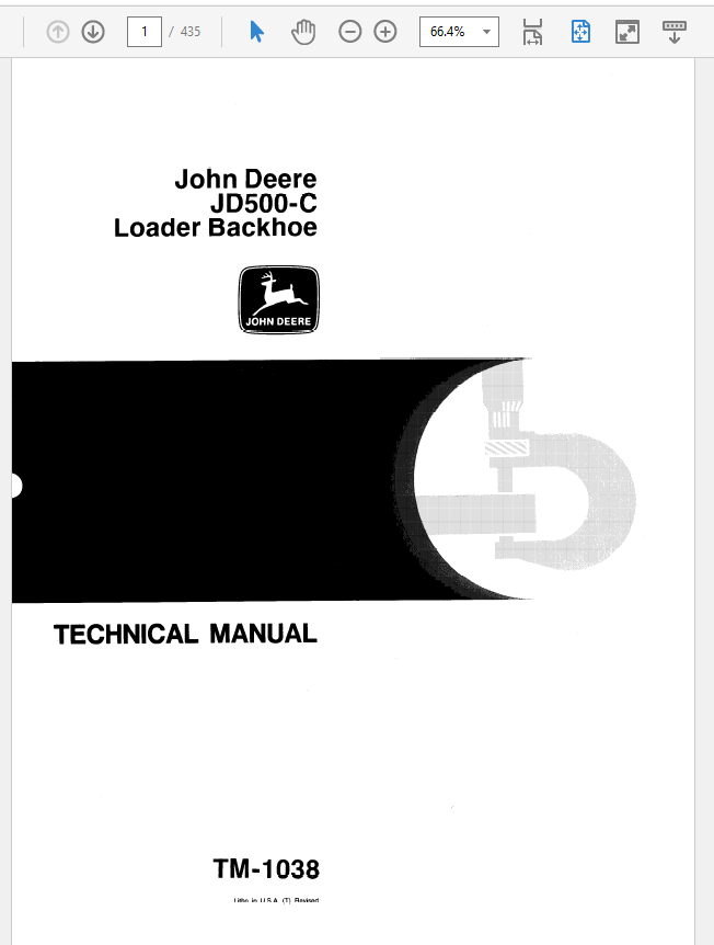 John Deere 500C Loader Backhoe Service Manual TM-1038