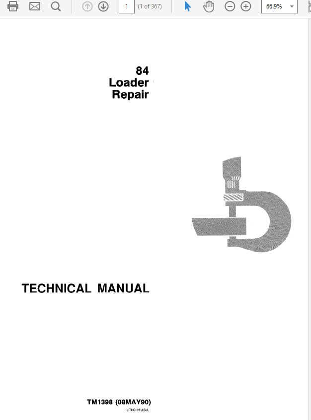 John Deere 84 Loader Technical Manual TM-1397 & TM-1398