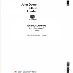 John Deere 644B Loader Service Manual TM-1095