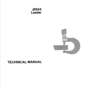 John Deere 844 Loader Service Manual TM-1189