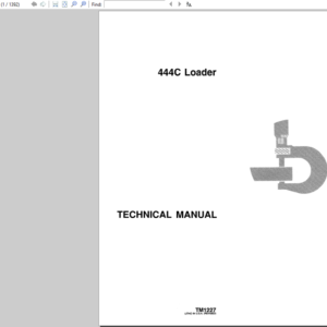 John Deere 444C Loader Technical Manual TM-1227