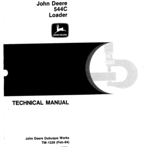 John Deere 544C Loader Service Manual TM-1228