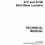 John Deere 675, 675B Skid-Steer Loader Technical Manual TM-1374