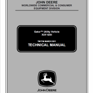John Deere XUV 620i Gator Utility Vehicle Service Manual TM-1736