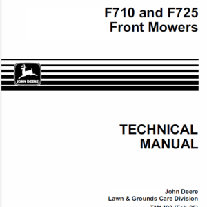 John Deere F710, F725 Front Mower Service Manual TM-1493