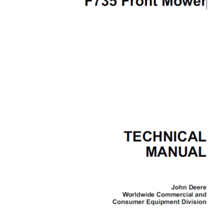 John Deere F735 Front Mower Technical Manual TM-1597