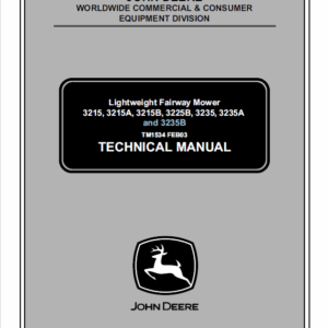 John Deere 3215, 3215A, 3215B, 3225B, 3235, 3235A, 3235B Mower Manual TM-1534