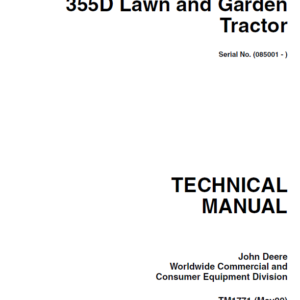 John Deere 355D Lawn and Garden Tractor Service Manual TM-1771