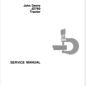 John Deere 760 Tractor Technical Manual SM-2075