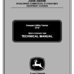 John Deere 2210 Compact Utility Tractors Service Manual TM-2074