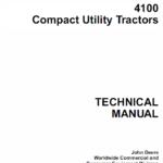 John Deere 4100 Compact Utility Tractors Service Manual TM-1630