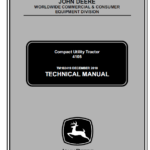 John Deere 4105 Compact Utility Tractors Technical Manual TM-102419