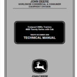 John Deere 4120, 4320, 4520, 4720 Compact Utility Tractor Service Manual