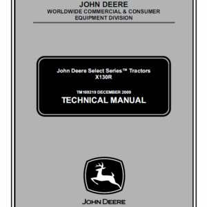 John Deere X130R Tractors Manual TM-109219
