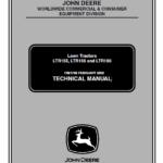 John Deere LTR155, LTR166, LTR180 Lawn Tractors Service Manual TM-1768