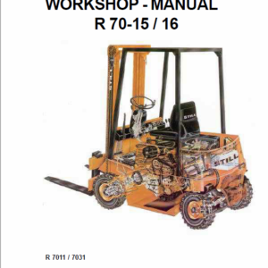 Still Electric Fork Truck R70: R70-16 R70-18 R70-20 Repair Circuit Workshop Operating Manual