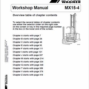 Still MX15-4 Order Picker Truck Workshop Repair Manual
