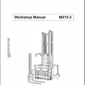 Still MX15-3 Order Picker Workshop Repair Manual