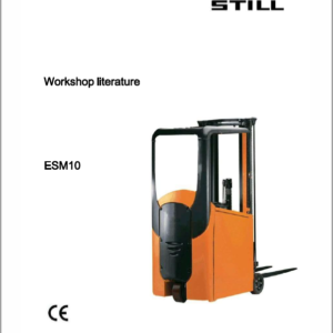 Still ESM10 Counter Balanced Workshop Repair Manual
