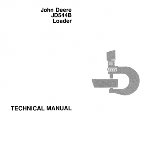 John Deere 544B Loader Repair Service Manual TM1094 & TM3202