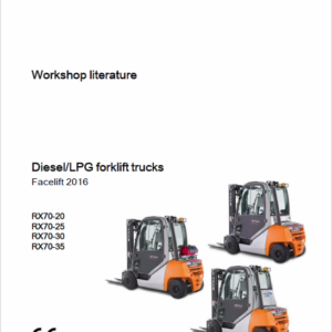 Still Electric Forklift Truck RX70: RX70-22, RX70-25, RX70-30, RX70-35 Repair Manual