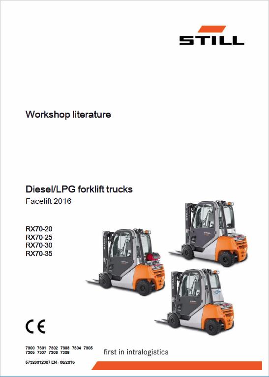 Still Electric Forklift Truck RX70: RX70-22, RX70-25, RX70-30, RX70-35 Repair Manual