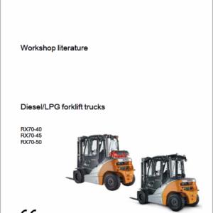 Still Electric Forklift Truck RX70: RX70-40, RX70-45, RX70-50 Repair Manual