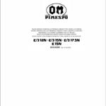 OM PIMESPO FIAT E3 12N -15N -17.5N- E15N Mosfet Electronic Schematic Manual