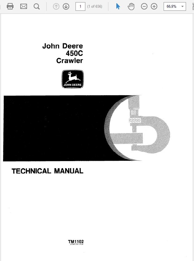 John Deere 450C Crawler Technical Manual TM-1102