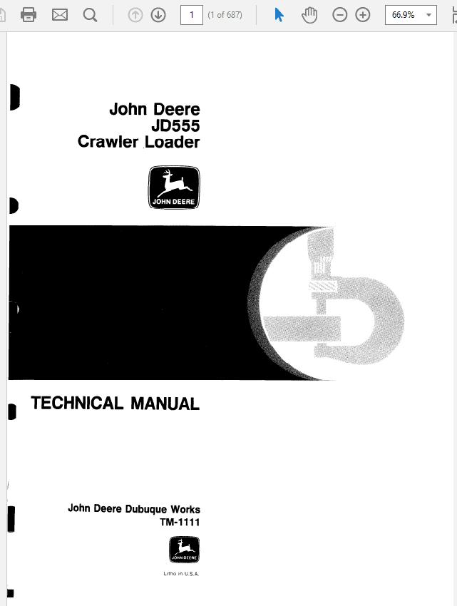 John Deere 555 Crawler Loader Technical Manual TM-1111
