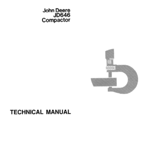 John Deere 646 Compactor Technical Manual TM-1073