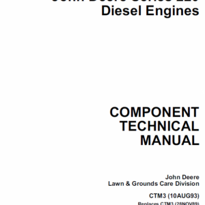 John Deere 220 Diesel Engines Service Manual CTM3
