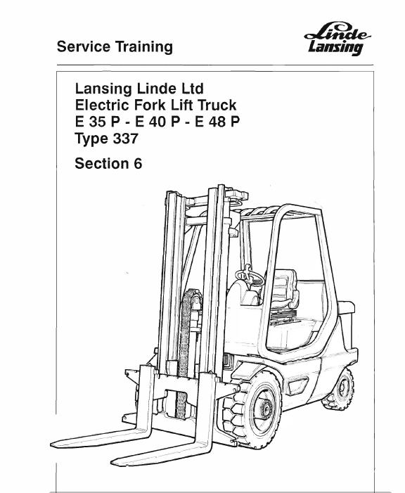 linde electric counterbalance truck type 337 e35 e40 e48 repair rh therepairmanual com Manual Book D Manual D Spreadsheet