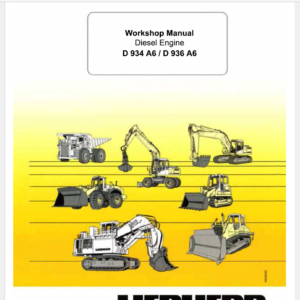 Liebherr Diesel Engines D934 A6 D936 A6 Service Manual