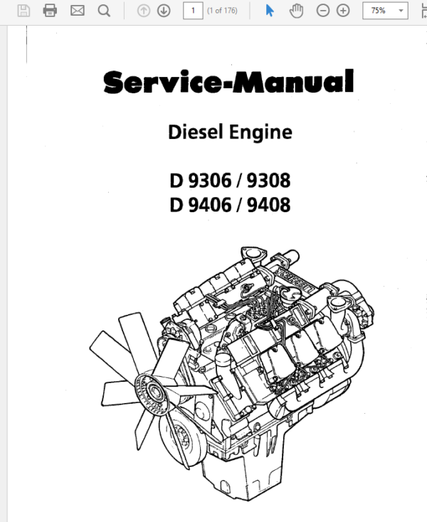 Liebherr Diesel Engine D9306 9308 9406 9408 Service Manual TM-1831 & TM-2224