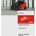 Linde Type 393 Forklift Truck H-Series: H25D-02, H30D-02, H35D-02 Repair Service Manual
