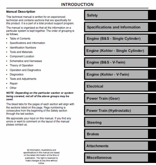 John Deere L100, L108, L110, L111, L118, L120, L130 Tractor Manual