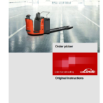 Linde Order Picker Type 132: N20, N24 Training (Workshop) Manual