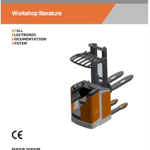 Still FS-X33,FU-X20,FV-X12, FVX16 Sit on Pallet Truck Workshop Repair Manual