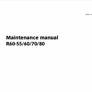 Still Electric Fork Truck R60-55, R60-60, R60-70, R60-80 Workshop Repair Manual