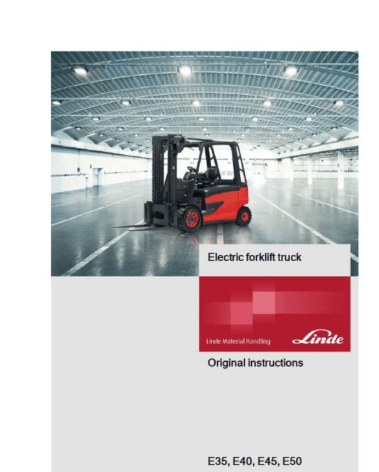Linde Series 388 Electric Forklift Truck: E35, E40, E45, E50 Workshop Service Manual
