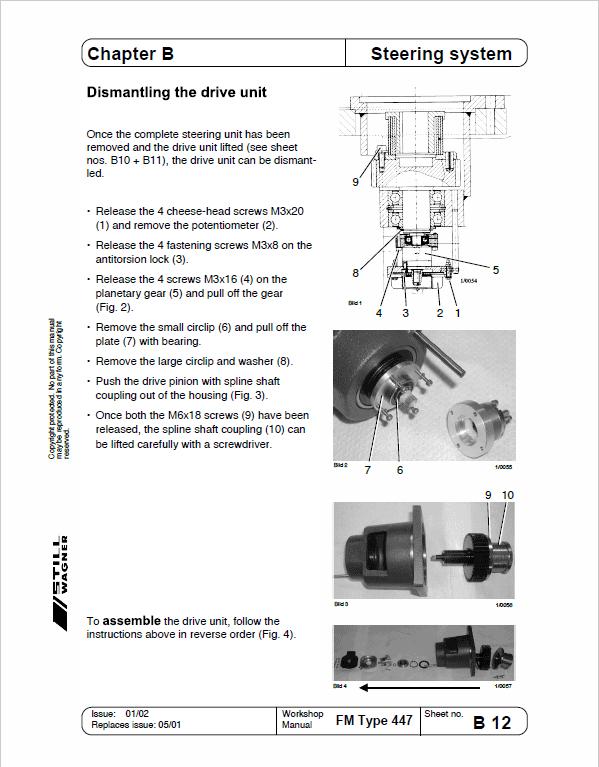 Still FM Type 429 and Type 447 Reach Truck Workshop Repair Manual